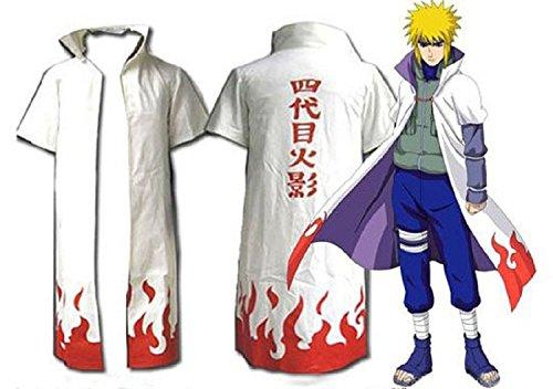 Naruto 4th Yondaime Hokage Cosplay Costume Cloak-Medium-A2442