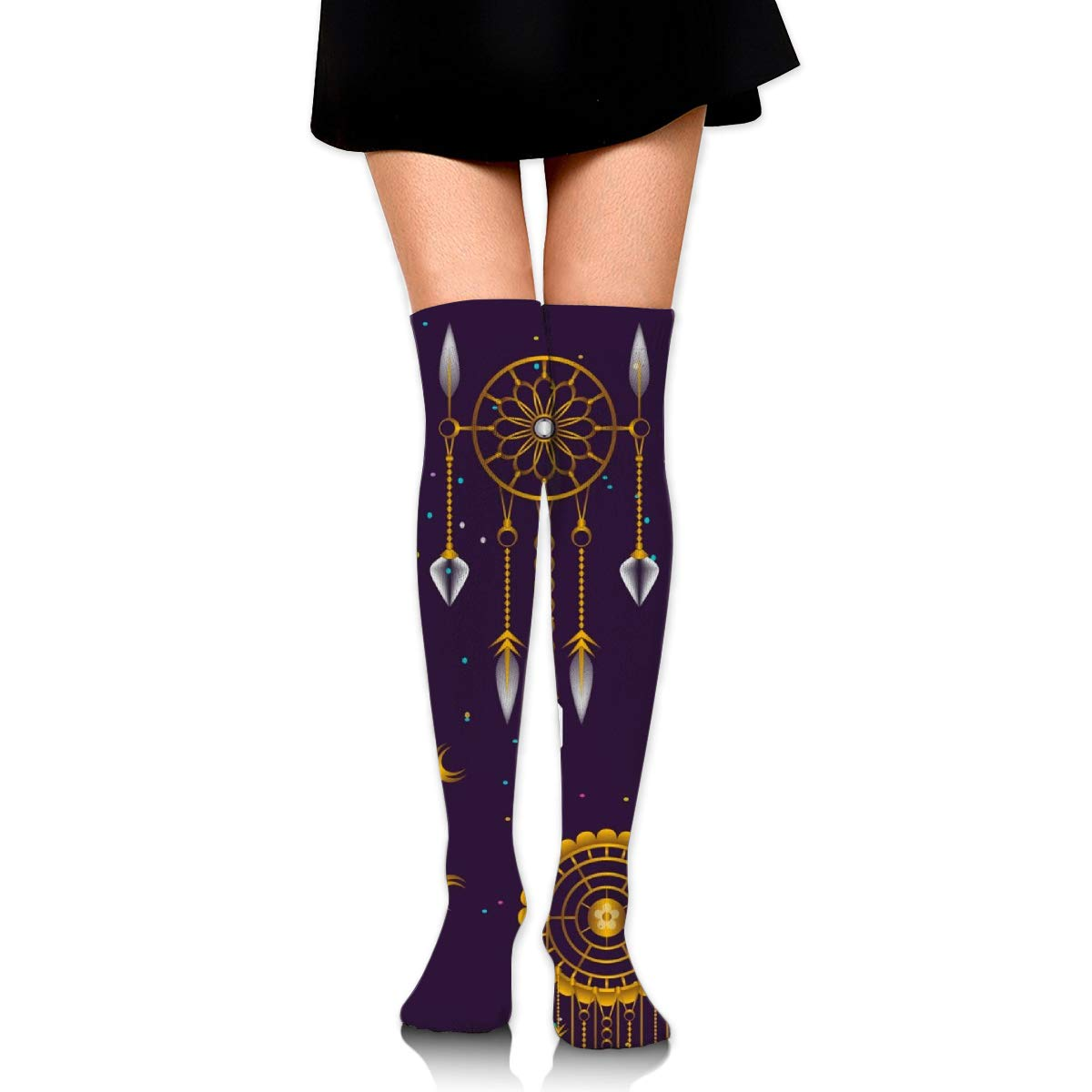 Casual Socks With Decorations Dream Catchers Print Thigh High Long Stockings Over Knee Socks
