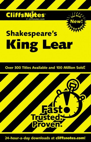 CliffsNotes on Shakespeare's King Lear (Cliffsnotes Literature Guides)