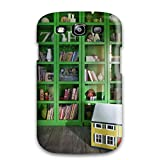 New Arrival Cover Case With Nice Design For Galaxy S3- Girls Room With Bright Green And Glass Cubby Display Bookshelf