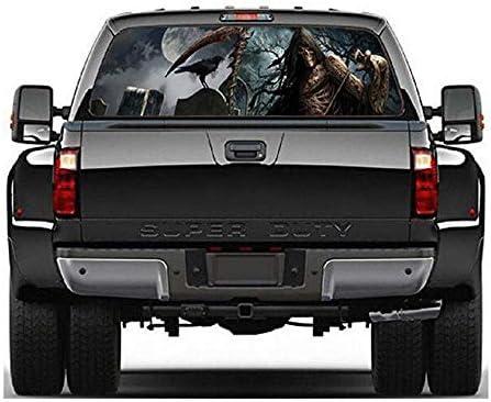 Grim Reaper Rear Window Graphic perf Decal Sticker Tint Truck Van Car SUV