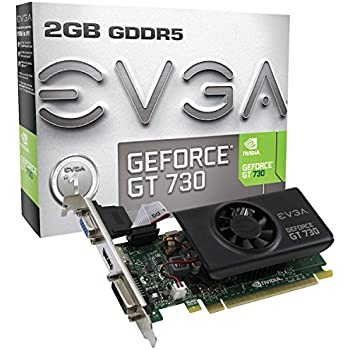 EVGA GeForce GT 730 2GB GDDR5 64bit DVI/HDMI/VGA Low Profile Graphics Card 02G-P3-3733-KR