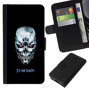 All Phone Most Case / Oferta Especial Cáscara Funda de cuero Monedero Cubierta de proteccion Caso / Wallet Case for LG OPTIMUS L90 // I'Ll Be Back