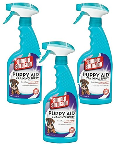 ((3 Pack) Simple Solution Puppy Aid Training Spray, 16 Ounce)