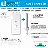 Ubiquiti R2AC US airPrism Basestation 2.4GHz Rocket ac airMax + AMO-2G13 Omni Antenna 2GHz 13dBi