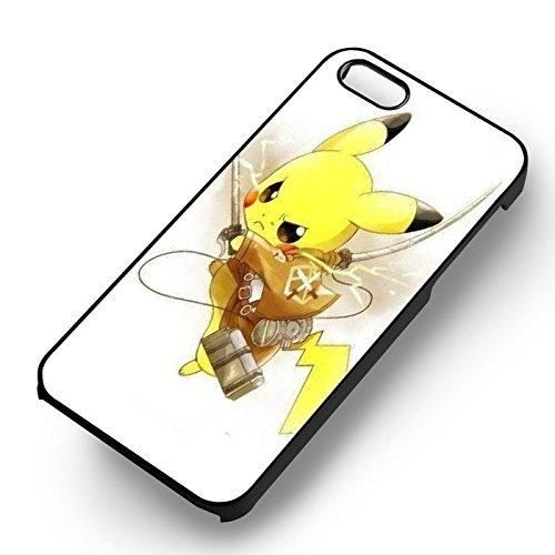 Pikachu Attack On Titan pour Coque Iphone 6 et Coque Iphone 6s Case (Noir Boîtier en plastique dur) N3P2CB