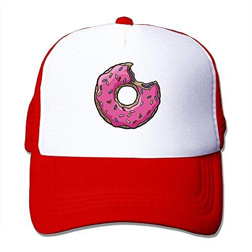 jinhua19 Gorras béisbol Pink Sweet Donut Doughnut Trucker Adjustable Mesh Hat