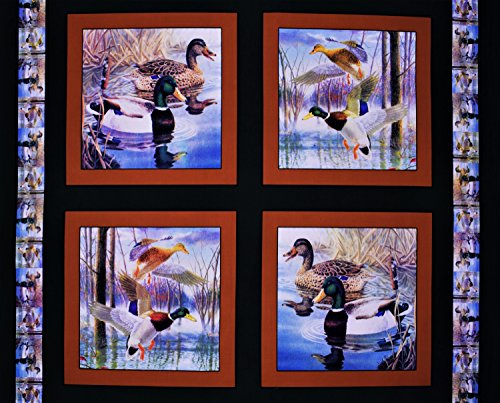 Duck Pillow Panel Mighty Mallards Fabric Sold By the Panel