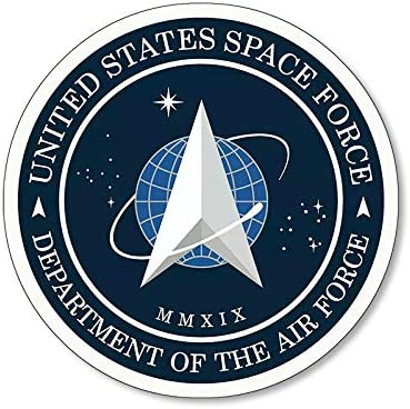 Official Round US Space Force Logo Sticker dept of Air Force Trump Insignia Seal
