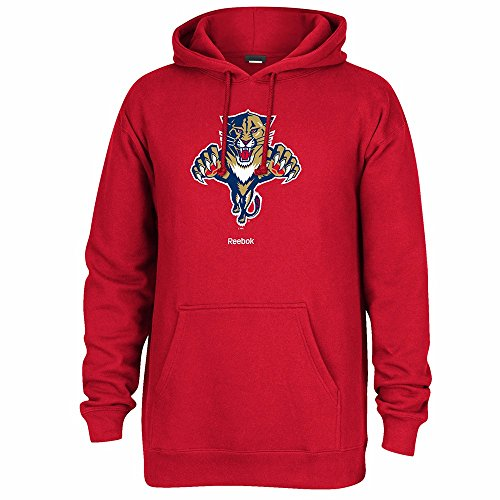 Reebok NHL Florida Panthers Men's Jersey Crest Pullover Hoodie, X-Large, Red
