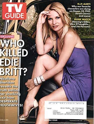 TV Guide Magazine April 20-May 3 2009 Nicollette Sheridan Desperate Housewives Alex O'Loughlin Jim Parsons
