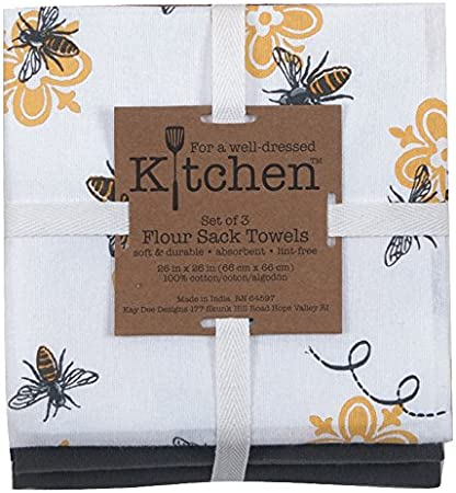 Multi Now Designs 2221011aa Printed Bakers Flour Sack Kitchen Towels Set of Three Lets Jam