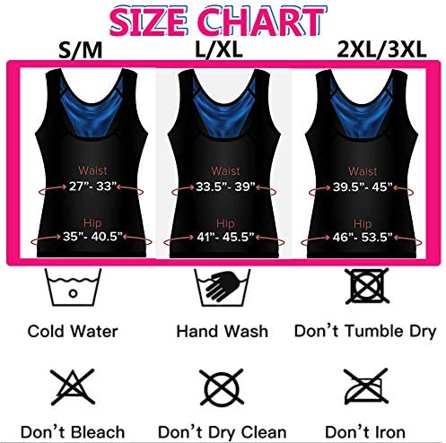Fitever Women's Sauna Suit Sweat Vest Waist Trainer Heat Trapping Workout Tank Top Shapewear for Weight Loss Polymer Body Shaper Slimming