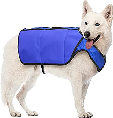 Hugs Pet Products Chilly Cooling Vest for Dogs, Large, Blue