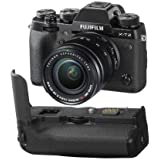 Fujifilm X-T2 Mirrorless Camera XF 18-55mm f/2.8-4 R LM OIS Lens, Black Vertical Power Booster Grip