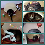 Cozy-Cat-Bed-Cave-MG-House-Mongolian-Yurt-Shaped-House-Windproof-Removable-Pet-Cat-Bed-Thermal-Hiding-Dog-Sleeping-Bag