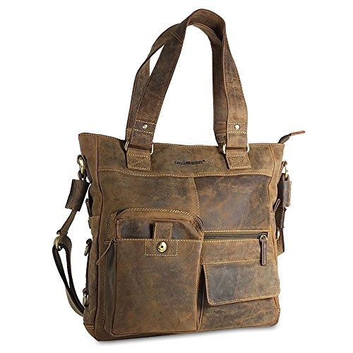 Greenburry Marrone Greenburry borsa Vintage pelle Vintage 39 cm brown USxx6qw8