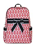 Ever Moda Arrow Quilted Backpack (Coral Pink)
