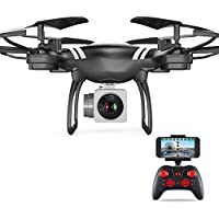 KXN KY151W RC Drone FPV Wifi RC Training Quadcopter with HD Camera 6-Axis Gyro 2.4GHz One Key Return Headless Mode One Key Return Easy Operation for Kids Beginners Adults (Black)