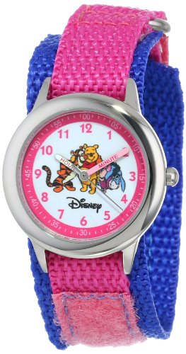 Friends Teacher Time Watch (Disney Kids' W000100 Winnie the Pooh & Friends Stainless Steel Time Teacher Watch)