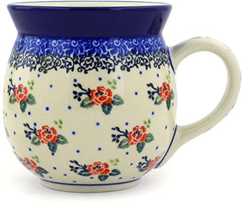 Polish Pottery Bubble Mug 16 oz Pasadena (Red Pottery Mugs)