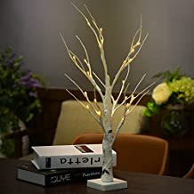 Autoday 1.2M 48 LED Lights Simulation Silver Birch Twig Tree LED Light for Christmas,Halloween,Valentine,Birthday Party Celebration Indoor / Outdoor Decoration (Ship From US)