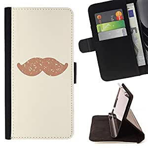 - Mustache Mania - - Premium PU Leather Wallet Case with Card Slots, Cash Compartment and Detachable Wrist Strap FOR Samsung Galaxy S3 MINI I8190 King case