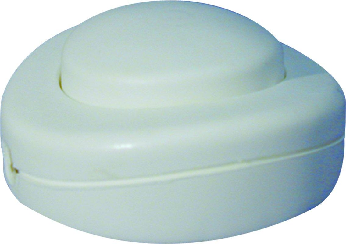 Voltman VOM530304 Interrupteur Pied de Lampe Rond Blanc 2 A