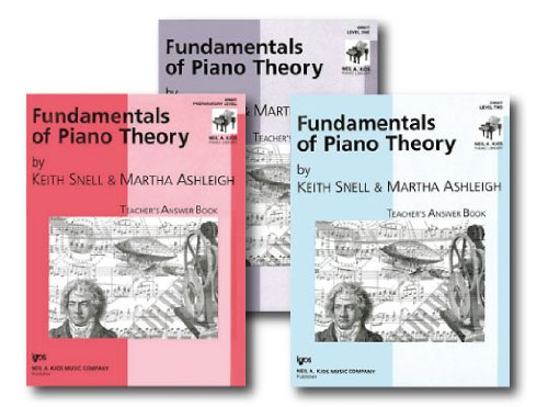 Kjos Piano Library - Fundamentals of Piano Theory, Teacher's Answer Books - Three Book Set - Includes Preparatory Level, Level 1, and Level 2