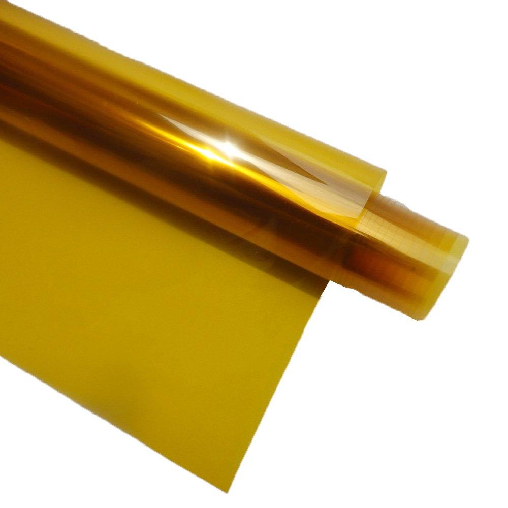 Hoho 152cmx50cm oro giallo chiaro finestra pellicola decorativa autoadesiva colorato residenziale vetro tinta