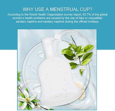 YD Juego de Copa Menstrual orgánica para Mujer - Paquete esterilizado y válvula de Descarga única - Cada Copa Menstrual, di no al tampón, Silicona de ...