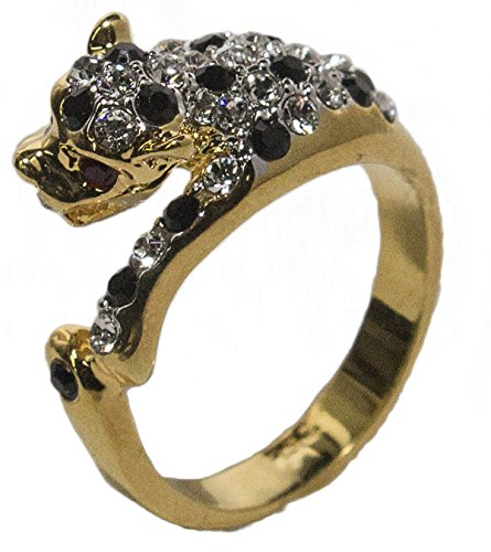 - Women's 18 Kt Gold Plated Dress Ring Austrian Crystal Leopard 021 (7)