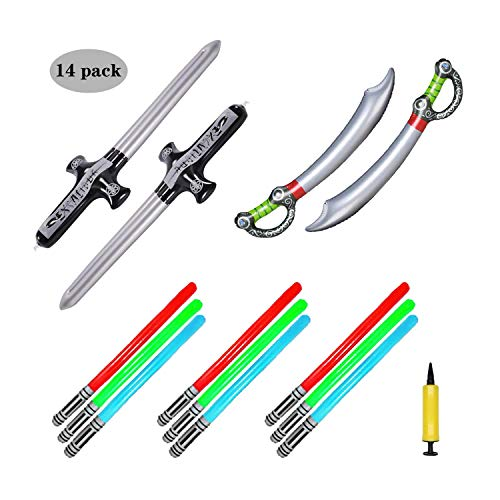 BTSD-home Inflatable Pirate Sword Stick Balloons for Kids Pirate Costumes Party Supplies Decorations]()