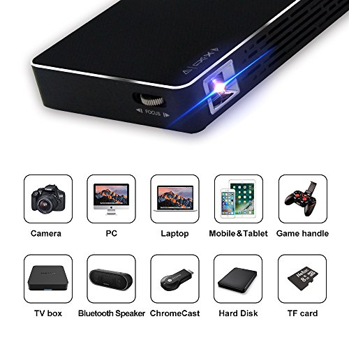 Mini Portable Pocket Projector with 120-inch Display