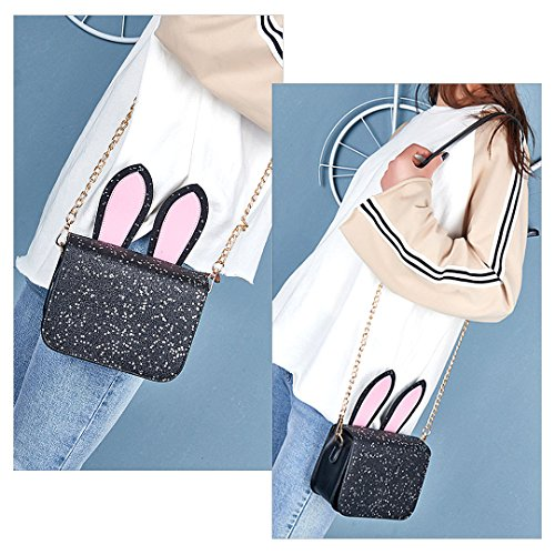 Shoulder Women Evening Purse Black Sequins Bag Fashionable Bag Candice Handbag Crossbody 00325 Bag Shiny qXHRHxa