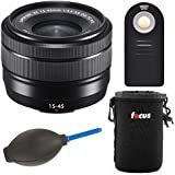 Fujifilm Fujinon XC15-45mm F3.5-5.6 OIS PZ Lens (Black) W/Focus Accessory Bundle