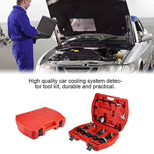 Cooling System Tester, 14pcs Universal Car Water Tank Leak Tester Cooling System Detector Tool Kit by Aramox (Image #8)