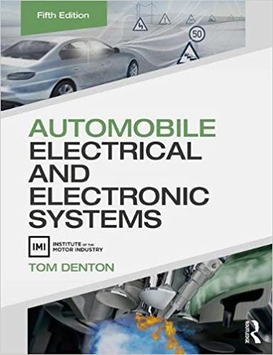 Surprising Automobile Electrical And Electronic Systems Tom Denton Wiring Digital Resources Sapredefiancerspsorg