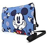 Disney Smile Mickey Minnie mouse Crossbody Bag Multi zippered pocket Shoulder Purse Bag Cell Phone Pouch (Blue_mickey)