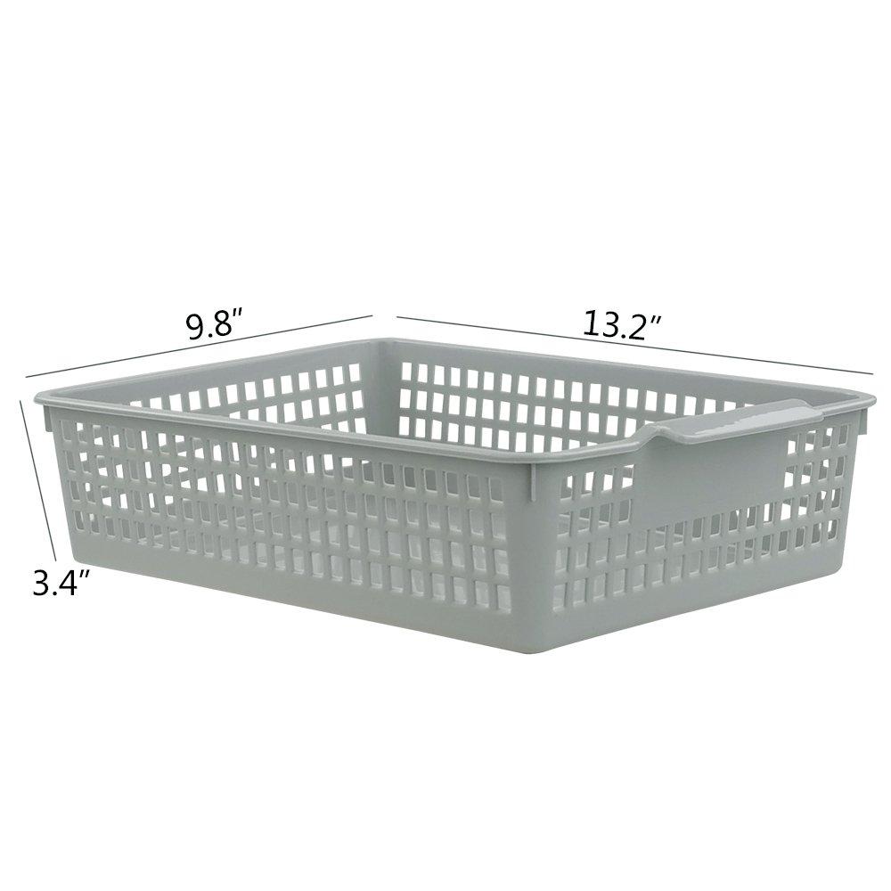 Amazon.com: Doryh Plastic Basket Organizing for Files, Letter, 4 ...