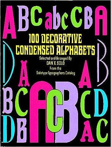 100 Decorative Condensed Alphabets Dover Pictorial Archive Dan X Solo 9780486278490 Amazon Books