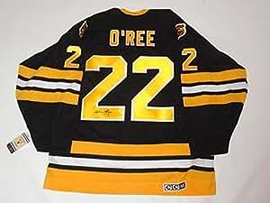 Willie O'ree Signed Vintage Ccm #22 Boston Bruins Jersey ...