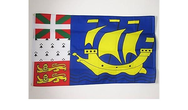 AZ FLAG Bandera de San Pedro Y MIQUELÓN 150x90cm - Bandera Saint Pierre ET Miquelon 90 x 150 cm: Amazon.es: Hogar