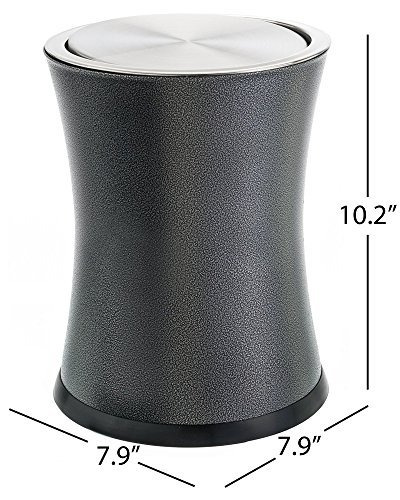 Bennett Small Office Trash Can - Push Top Lid