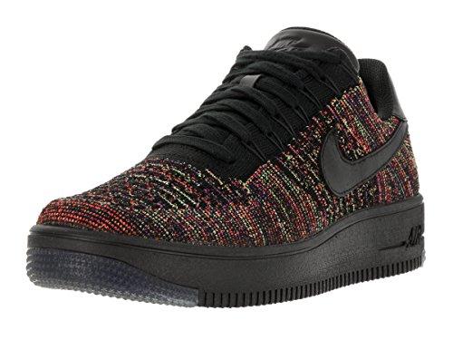 Nike AF1 Ultra Flyknit Low, Zapatillas de Baloncesto para Hombre Negro / Naranja / Morado (Blck / Blck-Brght Crmsn-Crt Prpl)