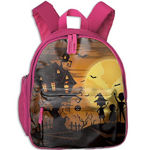 Casual Backpack Halloween Party Print School Bag For Students -