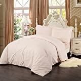 Simple&Opulence Folding Type Pink 100% Cotton Girls Bedding King Queen Twin Duvet Cover Set Including 1 Duvet Cover and 1 Pillowcase (Twin)