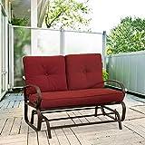 Homevibes Outdoor Glider Porch Glider Patio Bench