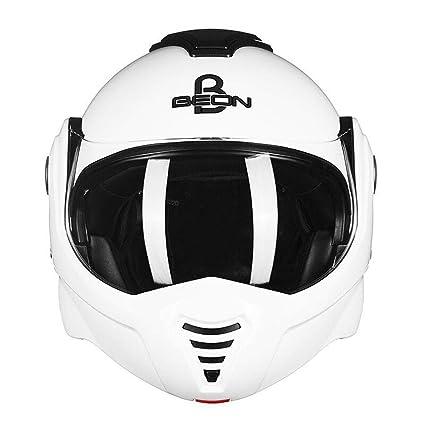 DanNN Casco de Moto Modular Flip up Cara Completa Casco de la Motocicleta Descubierta Casco antideslumbrante