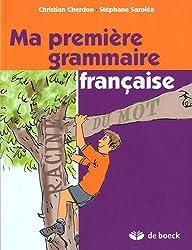 Ma première grammaire française